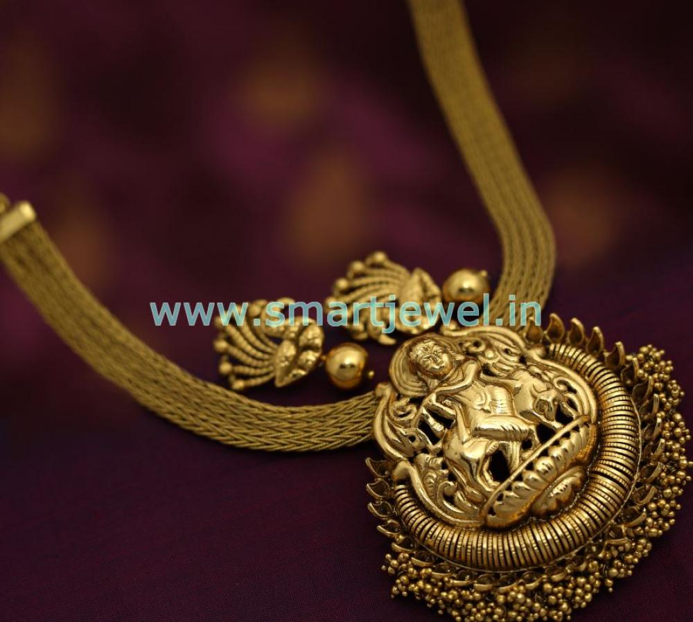 nagas-attigai-south-indian-ethnic-traditional-jewellery-antique-. Loading zoom & SNL7153 Krishna Design Antique Nagas Jewellery South Traditional ...