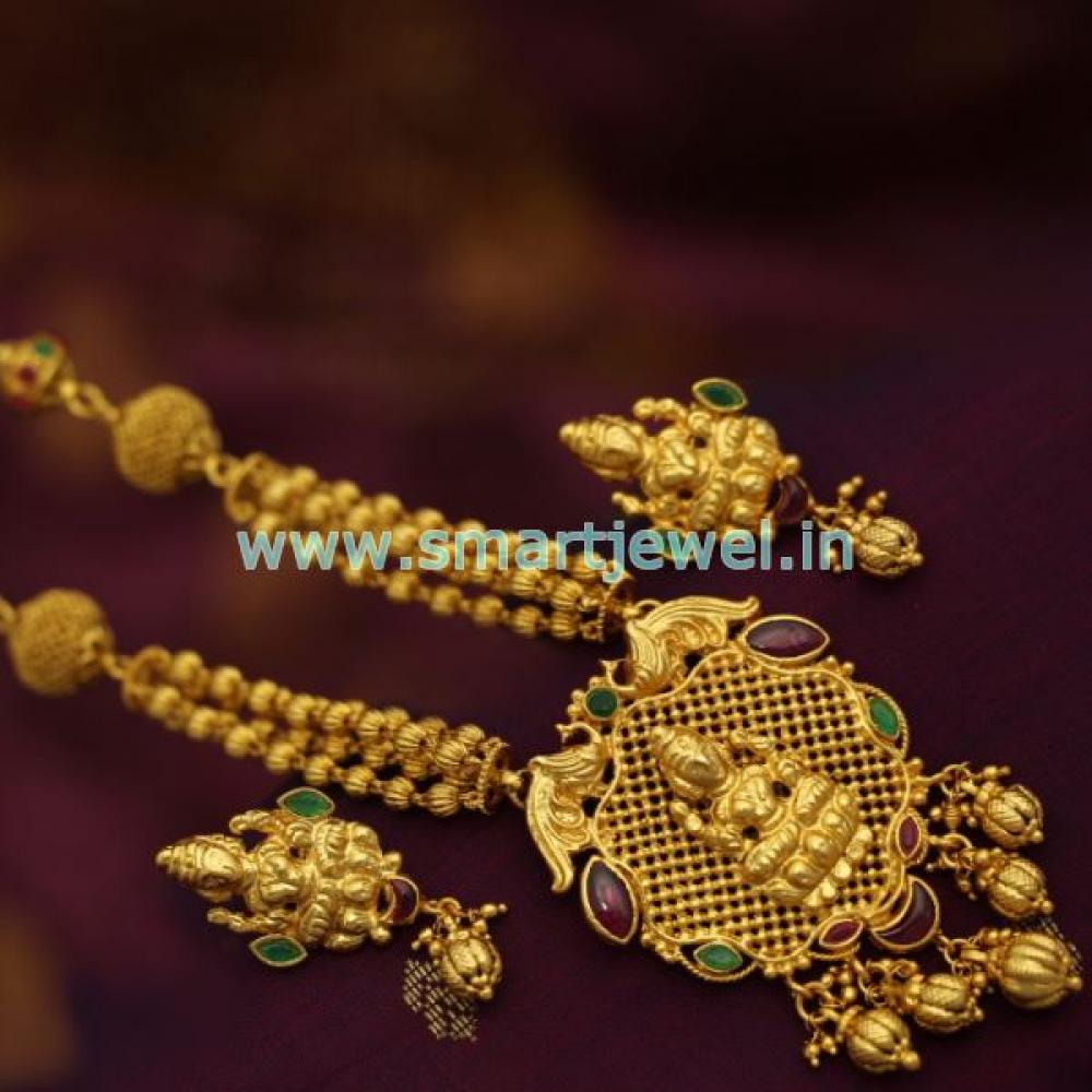Snl7022 one gram gold plated temple jewellery gundla mala smartjewel one gram gold plated temple jewellery gundla loading zoom mozeypictures Image collections